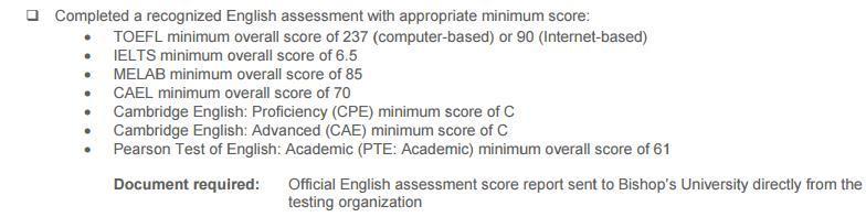 加拿大毕索大学本科申请条件解析